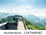hebei jinshanling great wall | Shutterstock . vector #1187468482
