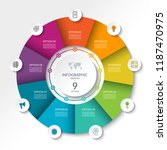 circular infographic flow chart.... | Shutterstock .eps vector #1187470975
