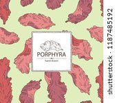 background with porphyra ... | Shutterstock .eps vector #1187485192