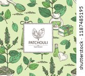 background with patchouli ... | Shutterstock .eps vector #1187485195