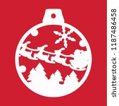 christmas tree ball toy... | Shutterstock .eps vector #1187486458