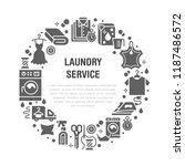 dry cleaning  banner... | Shutterstock .eps vector #1187486572