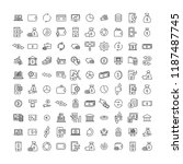 set of premium finance icons in ... | Shutterstock .eps vector #1187487745