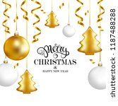 merry christmas and happy new... | Shutterstock .eps vector #1187488288