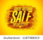 great autumn sale vector poster ... | Shutterstock .eps vector #1187488315