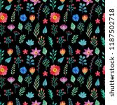 seamless floral pattern with... | Shutterstock . vector #1187502718