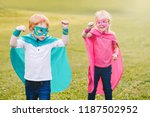 cute adorable preschool... | Shutterstock . vector #1187502952