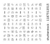 set of premium medical icons in ... | Shutterstock .eps vector #1187513515