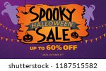 spooky halloween sale up to 60  ... | Shutterstock .eps vector #1187515582