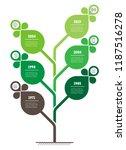 vertical timeline infographics. ... | Shutterstock .eps vector #1187516278