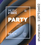 night party banner template for ...   Shutterstock .eps vector #1187516602