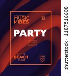 night party banner template for ... | Shutterstock .eps vector #1187516608
