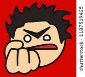 pictogram with furious   angry... | Shutterstock .eps vector #1187519425