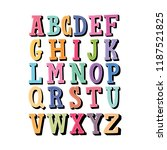 lettering colorful alphabet.... | Shutterstock .eps vector #1187521825