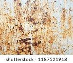 metal rust background. grunge... | Shutterstock . vector #1187521918