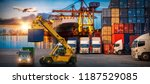 logistics and transportation of ... | Shutterstock . vector #1187529085