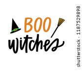 boo witches quote   Shutterstock .eps vector #1187529898