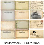 old postcards set