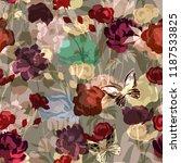 beautiful seamless floral... | Shutterstock .eps vector #1187533825