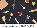 kitchen utensils and...   Shutterstock .eps vector #1187534458