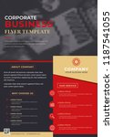 business flyer brochure design... | Shutterstock .eps vector #1187541055