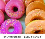 close up of assorted donuts... | Shutterstock . vector #1187541415