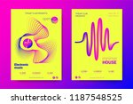 music abstract colorful poster. ... | Shutterstock .eps vector #1187548525