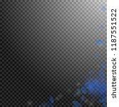 dark blue flower petals falling ... | Shutterstock .eps vector #1187551522