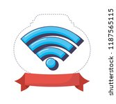 wifi internet signal digital... | Shutterstock .eps vector #1187565115