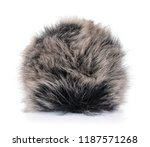 hand holding fur ball isolated... | Shutterstock . vector #1187571268