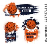 basketball sport icons with... | Shutterstock .eps vector #1187571565