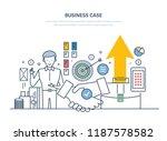 business case  investment... | Shutterstock .eps vector #1187578582