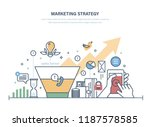 marketing strategy  economic... | Shutterstock .eps vector #1187578585