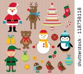 christmas design elements...