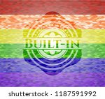 built in on mosaic background... | Shutterstock .eps vector #1187591992