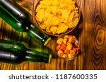 two bottles of beer and...   Shutterstock . vector #1187600335