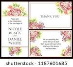vintage delicate greeting...   Shutterstock .eps vector #1187601685