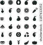 solid black flat icon set beet... | Shutterstock .eps vector #1187613352