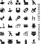 solid black flat icon set toys... | Shutterstock .eps vector #1187613418