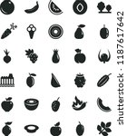 solid black flat icon set a... | Shutterstock .eps vector #1187617642