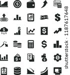 solid black flat icon set... | Shutterstock .eps vector #1187617648