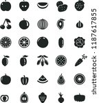 solid black flat icon set beet... | Shutterstock .eps vector #1187617855