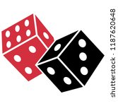 casino game icon  dices label ... | Shutterstock .eps vector #1187620648