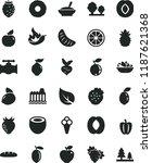 solid black flat icon set loaf... | Shutterstock .eps vector #1187621368