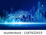 virtual bull walking in the... | Shutterstock .eps vector #1187622415