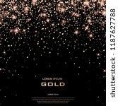golden holiday confetti. bronze ... | Shutterstock .eps vector #1187627788