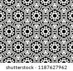 vector monochrome seamless... | Shutterstock .eps vector #1187627962