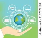 ecological concept.... | Shutterstock .eps vector #1187629198