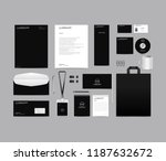 Stock vector corporate identity set template design blank template editable with logo abstract texture with 1187632672