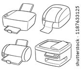 vector set of printer | Shutterstock .eps vector #1187633125